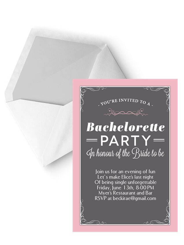 14 printable bachelorette party invitation templates cute pink and gray bachelorette party invitation template stopboris Images