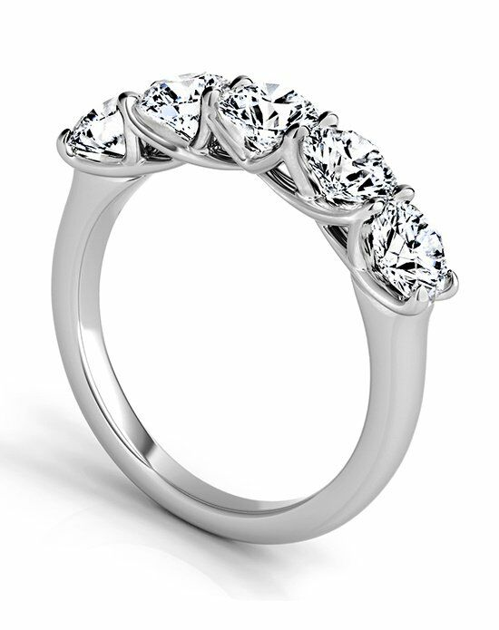 Platinum Engagement and Wedding Ring Must-Haves Sasha Primak 5 Stone Platinum Wedding Band Wedding Ring photo