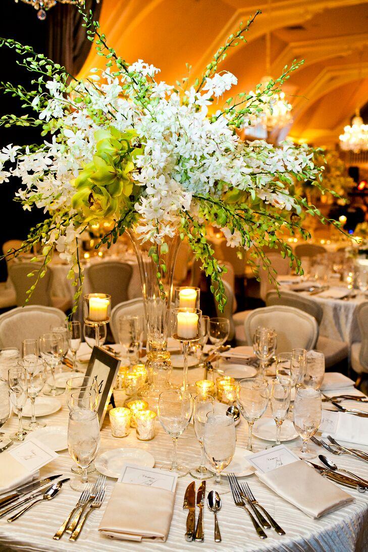 Silver Vase Flower Arrangements