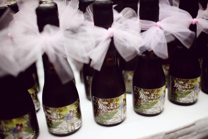 Custom Wine Bottle Wedding Favors In Dallas Texas