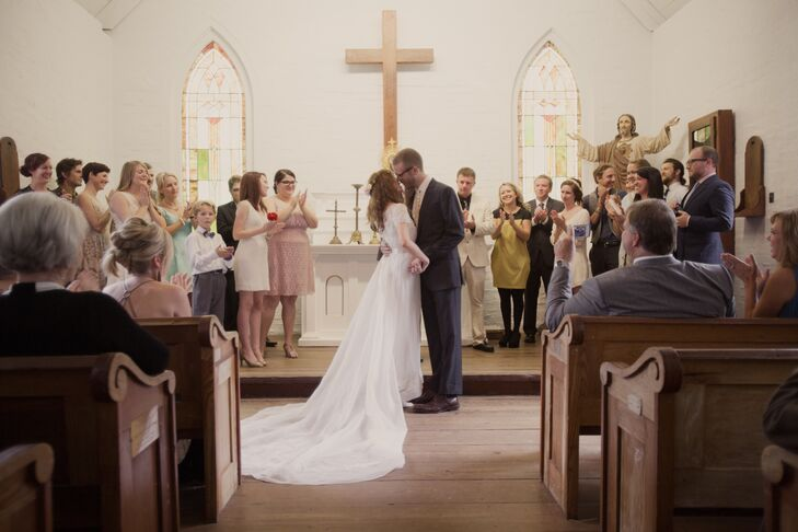 A simple southern wedding at acadian village in lafayette for Wedding dresses lafayette la