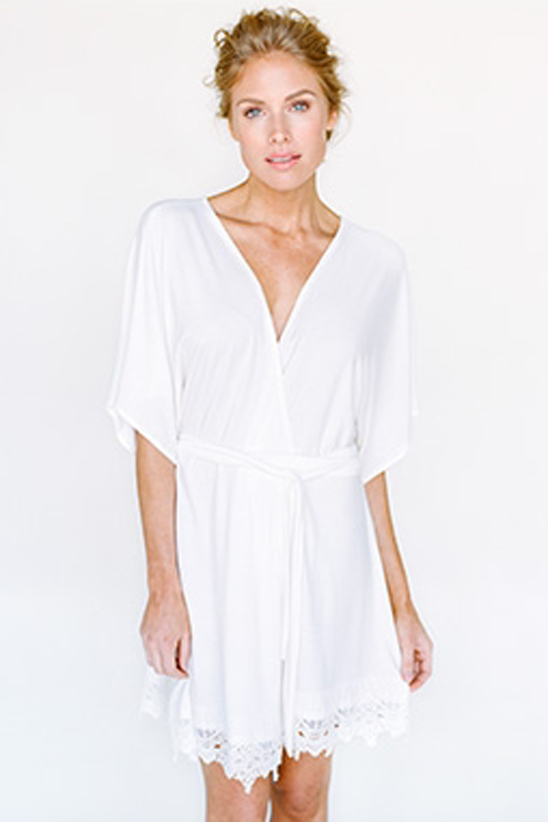 1b36d981eb 32 Bridal Robes You ll Wear Way Past Your Wedding Day