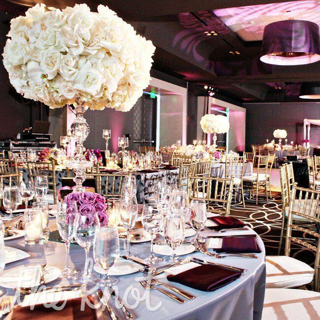Purple Wedding Reception Ideas: An Elegant Purple Wedding At The W Hotel In Hollywood