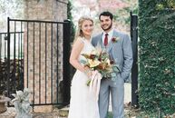 Burlap linens, antique lanterns and warm burgundy and gray details came together to give Chyna Manning (25 and a preschool teacher) and Dalton Hearn's