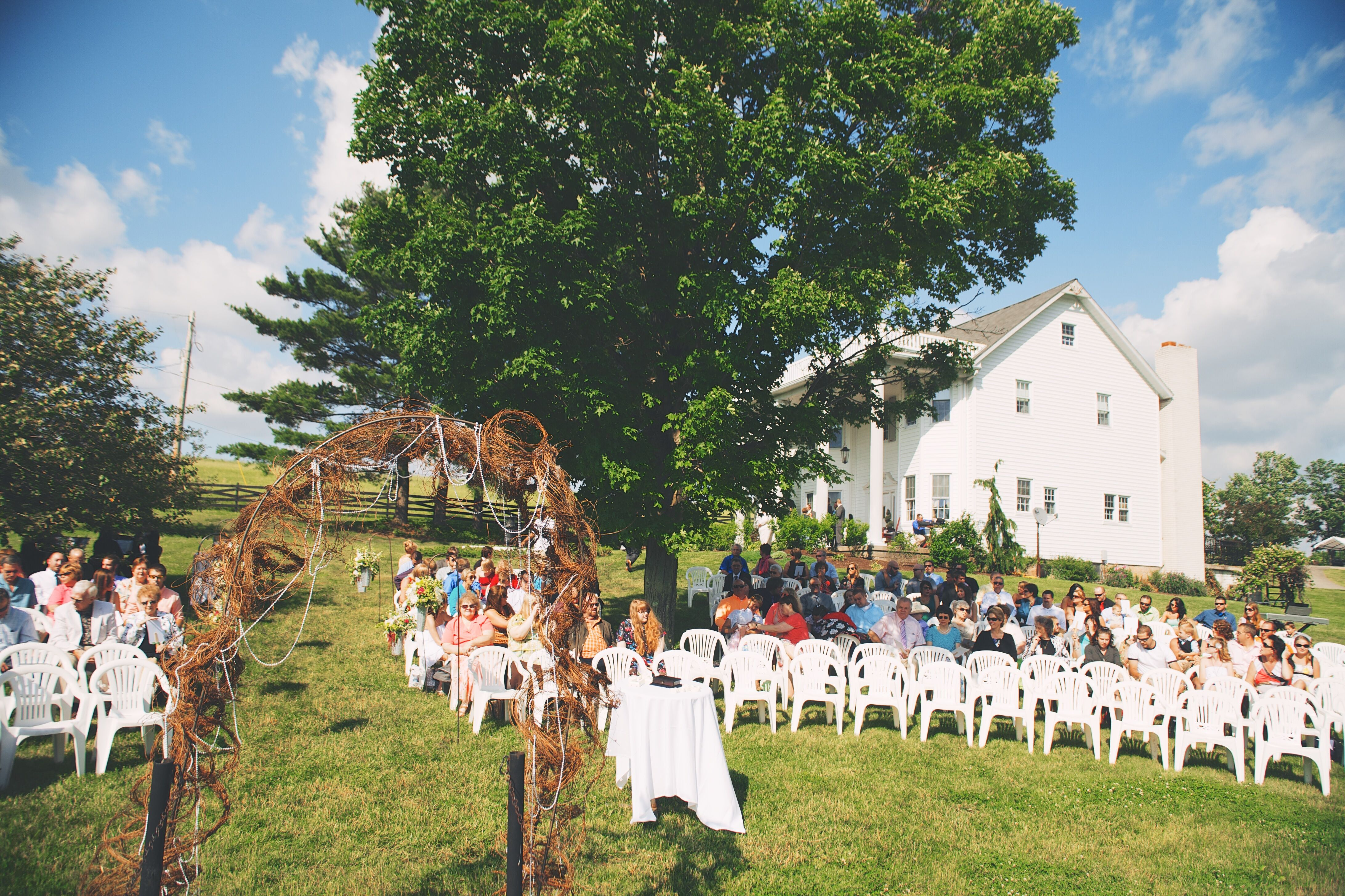 Outdoor Wedding Ceremony And Reception Barn At The Hayloft