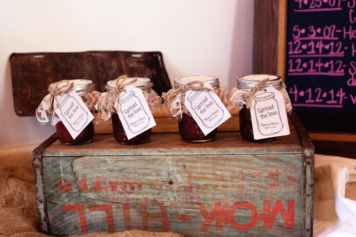 Jars of Jam Wedding Favors