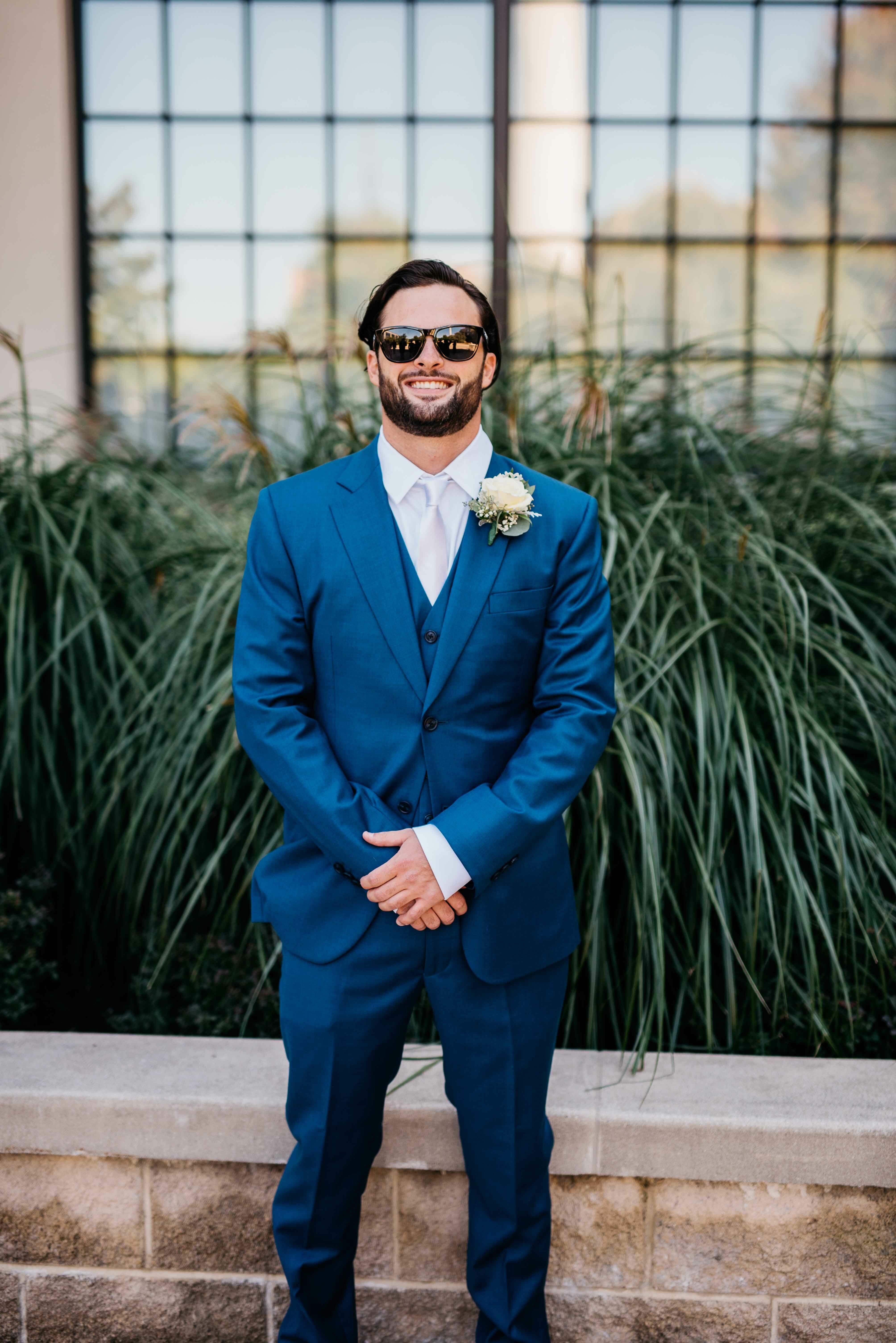 Royal Blue Groom S Suit