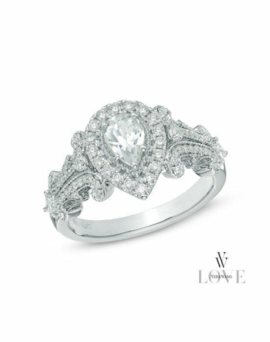 Vera Wang LOVE at Zales Vera Wang LOVE Collection 1 CT. T.W. Pear-Shaped Diamond Frame Engagement Ring in 14K White Gold  19959712 Engagement Ring photo