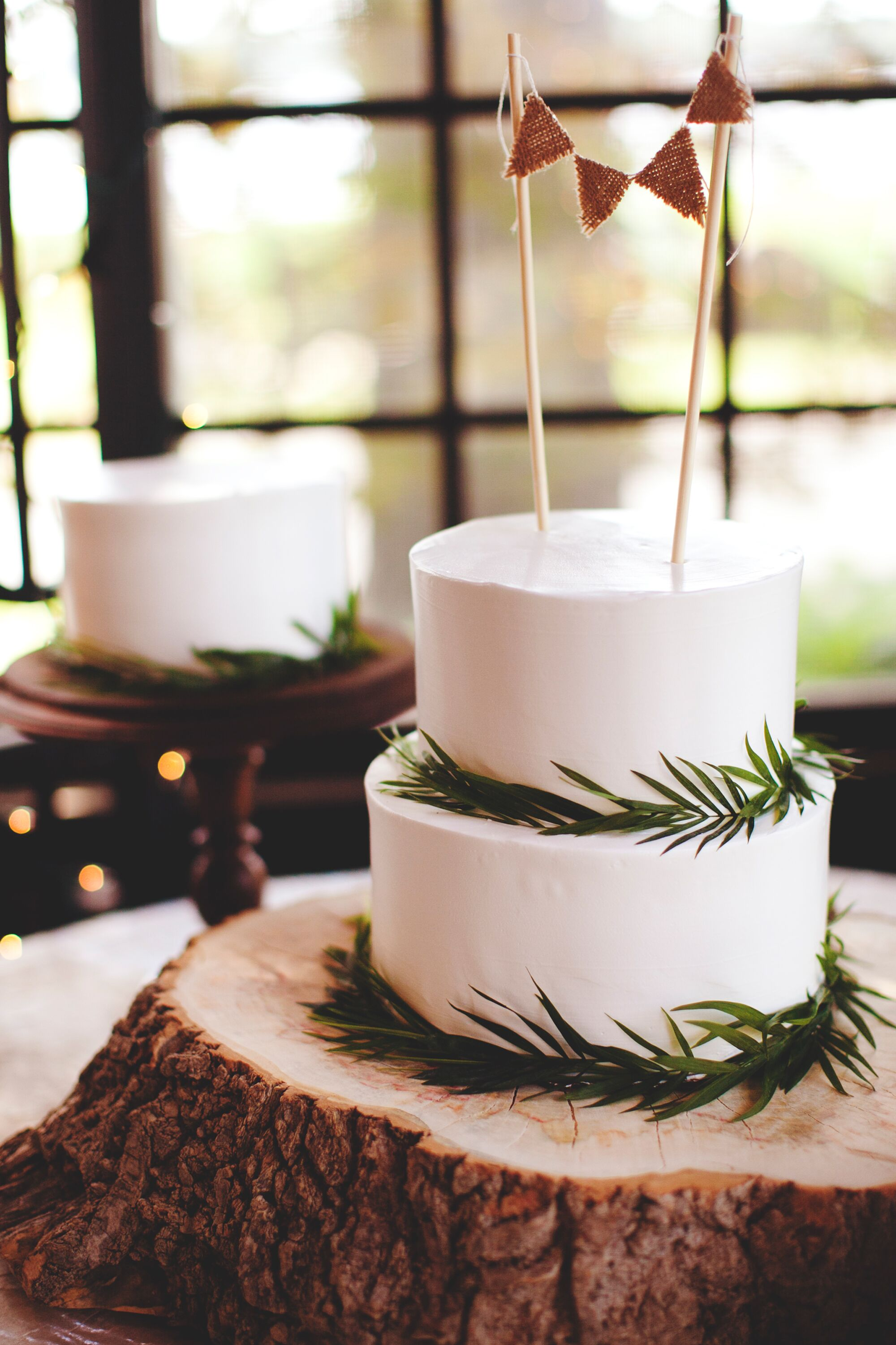 Two Tier Rustic Wedding Cake