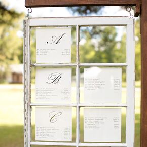 DIY Wedding Seating Charts