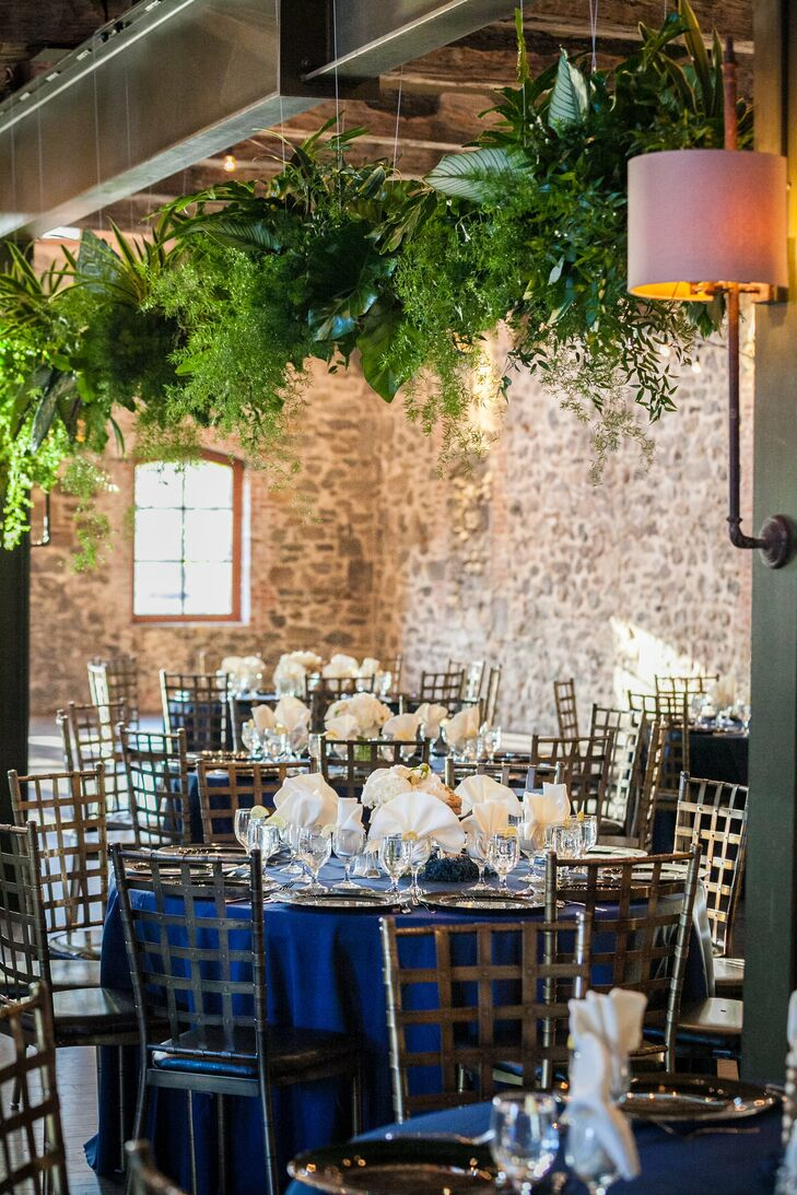 Jenn and James held the reception in the Grand Monarque Hall at the Brotherhood Winery. The room was filled with warm natural light and exposed stone walls that gave the room a dramatic, rustic feel.