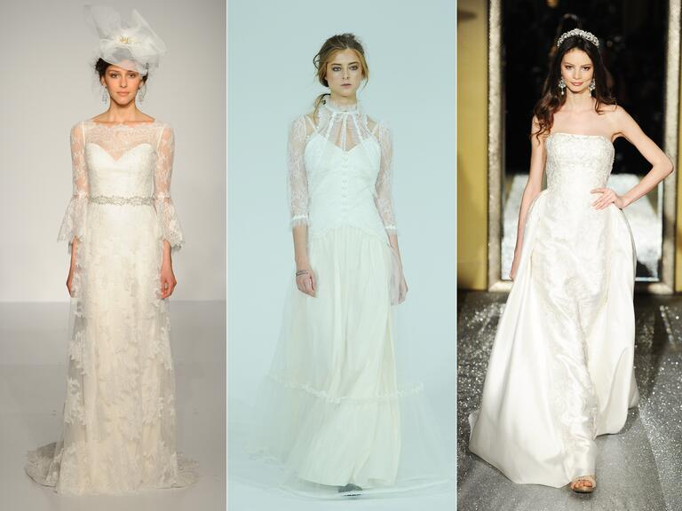 Wedding dresses with Victorian and vintage details