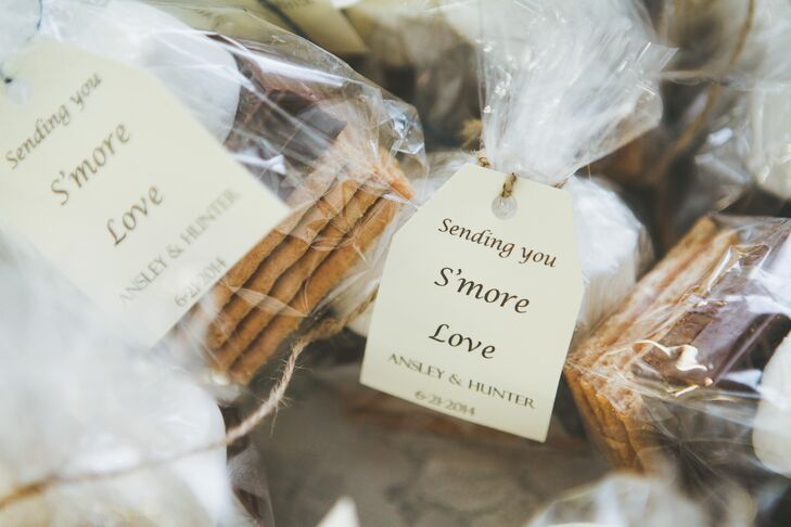 Guests were treated to packaged s'more kits complete with graham crackers, chocolate and marshmallows.