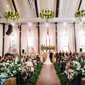 Rustic wedding aisle decorations fabric draped ceremony at the brooklyn arts center at st andrews junglespirit Gallery