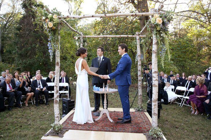 Small Backyard Wedding Doylestown Pa Wedding Photography: Ceremony Under A Birchwood Huppah
