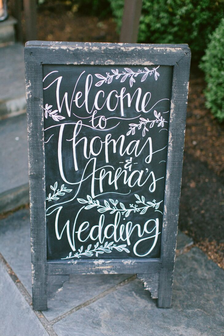 Rustic Welcome Chalkboard Sign