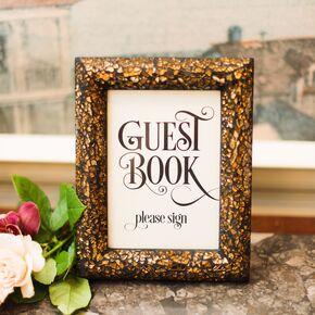 Whimsical Framed Guest Book Sign