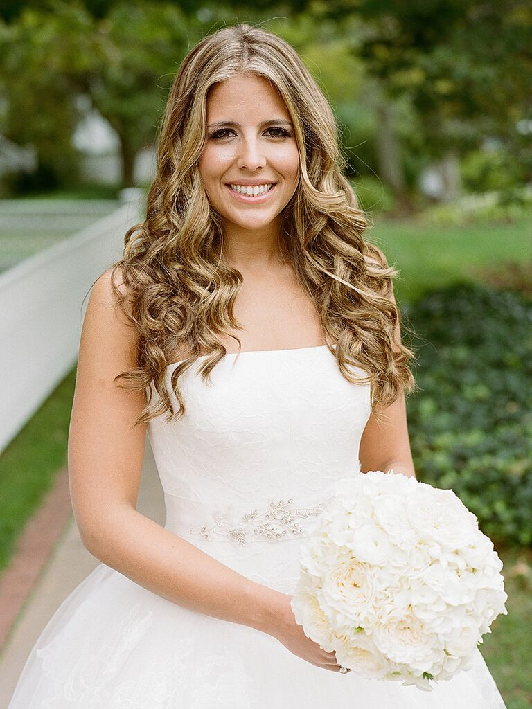 Curly Wedding Hairstyles For Long And Short Hair - Hairstyle with wedding gown