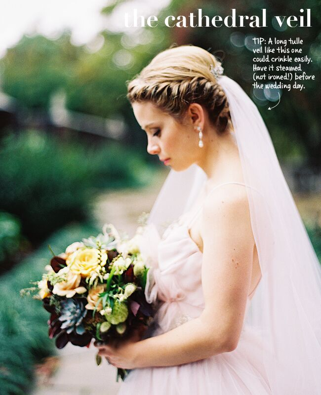 New wedding veil styles plus tips to wearing them veil placement tips img class junglespirit Images