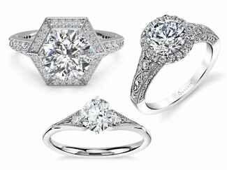 vintage inspired wedding rings - Vintage Inspired Wedding Rings