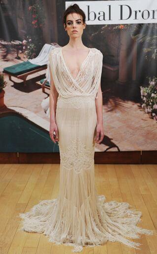 This Ivory Fringed Wedding Dress