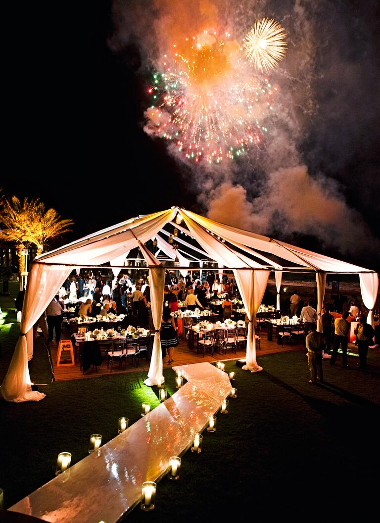 Sharon Sacks's open-top wedding reception tent