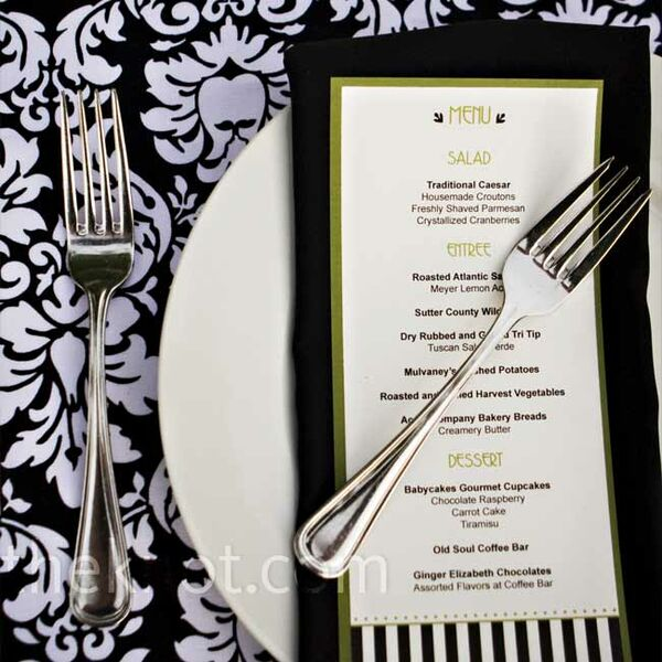 Striped Menu Cards