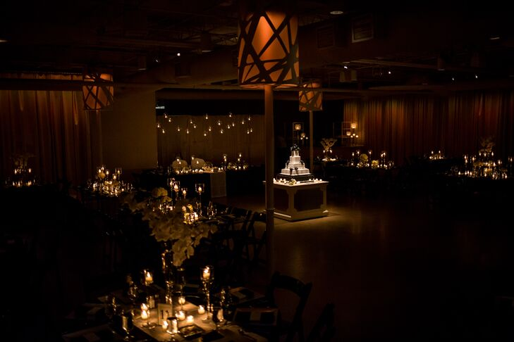 Sarah and Matt loved the classic, sophisticated feel of Studio Dan Meiners. They decorated with candles for a romantic candlelit reception.