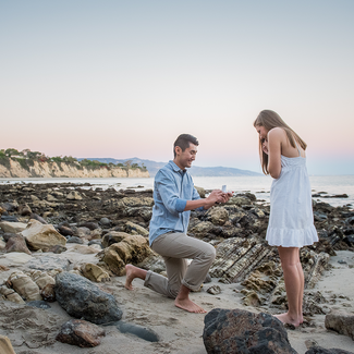 Couple during a proposal