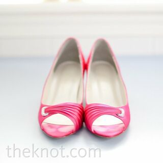 Real Pink Wedding Shoes
