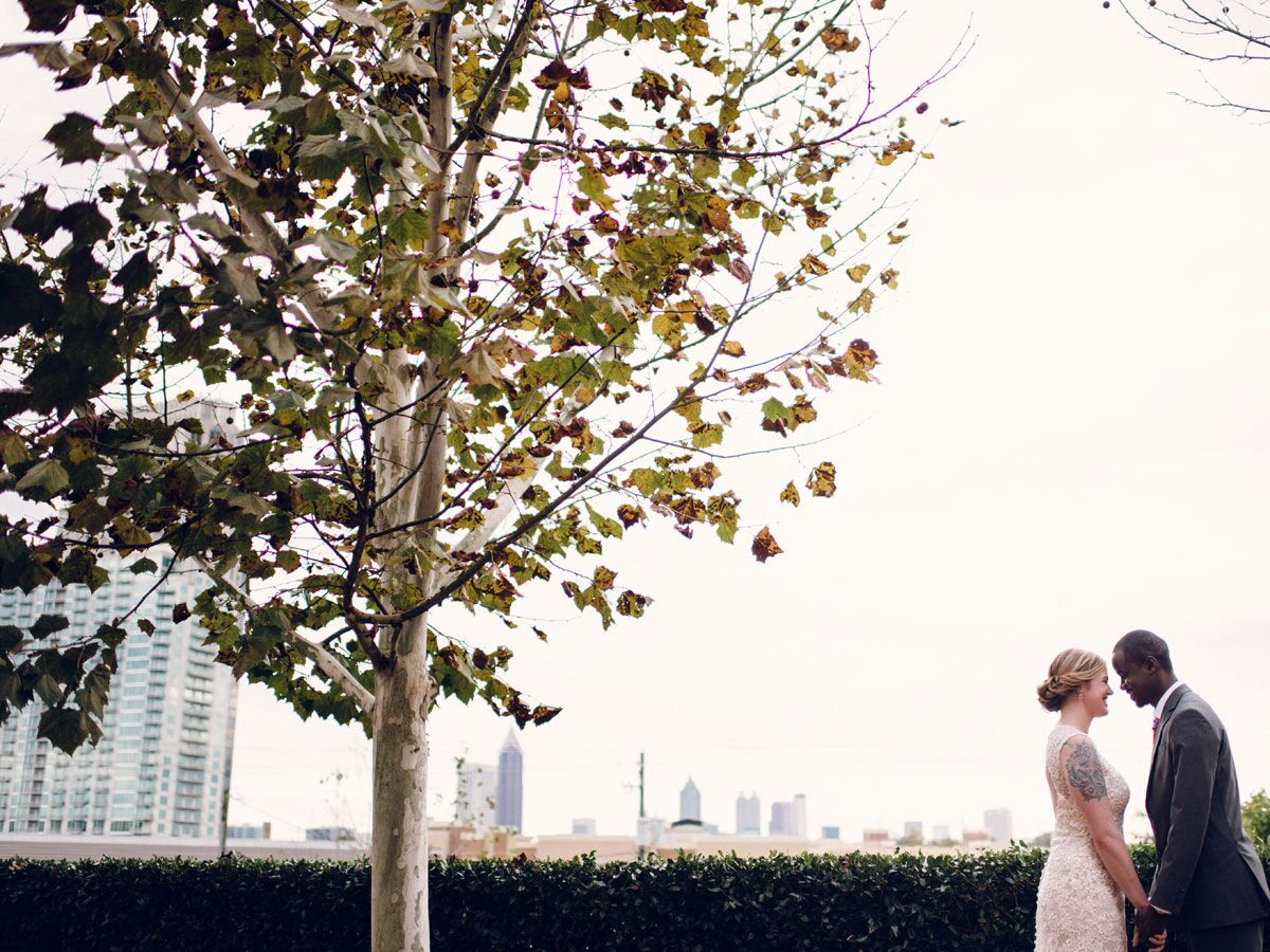 Georgia wedding with city view