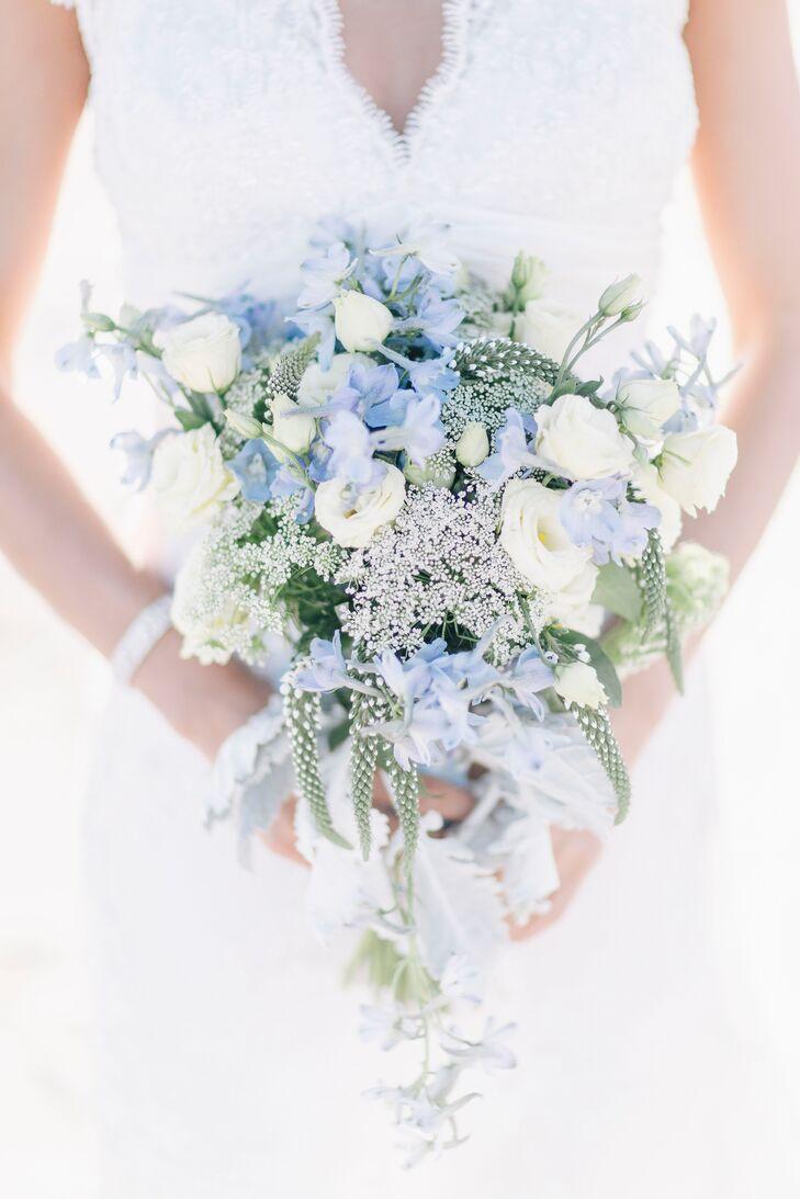 Pastel Blue Bridal Bouquet