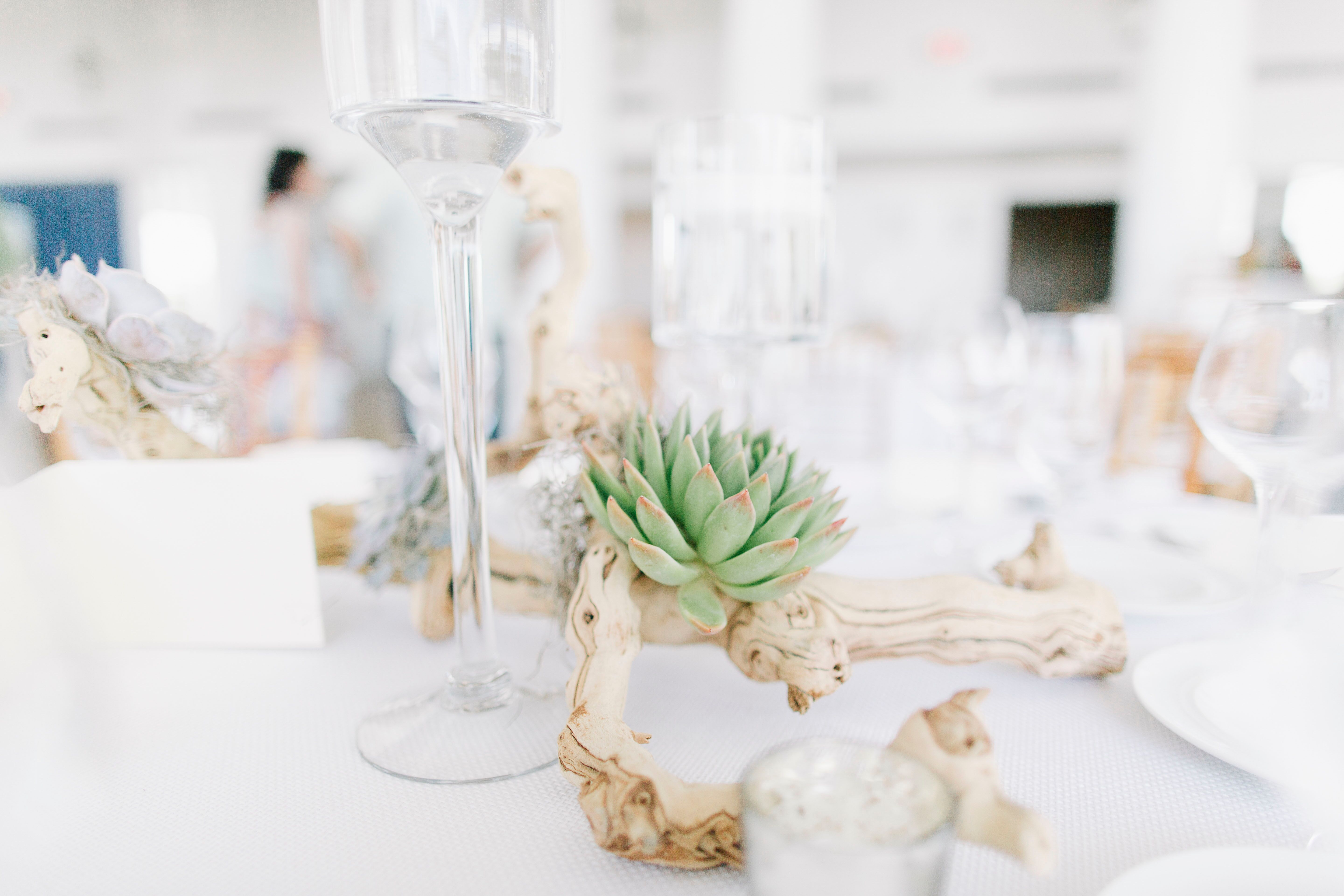 Elegant Driftwood Centerpiece Wedding – Wedding