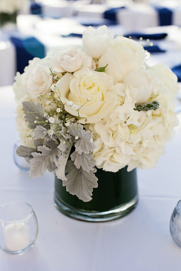 Ivory Roses and Hydrangea Floral Decor