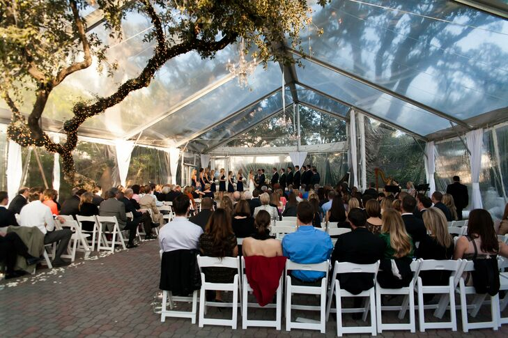 """We decided on The Allan House because it was a classic, simple venue centrally located for all of our out-of-town guests. We also fell in love with the clear winter tent,"" says Anne Elise."