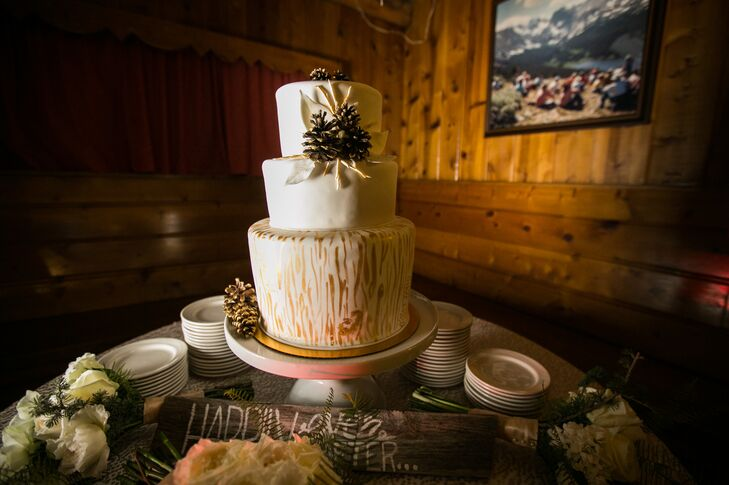 Rustic Winter Inspired Wedding Cake