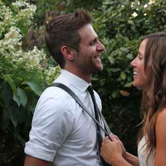 Canaan Smith and Christy Hardesty's wedding day