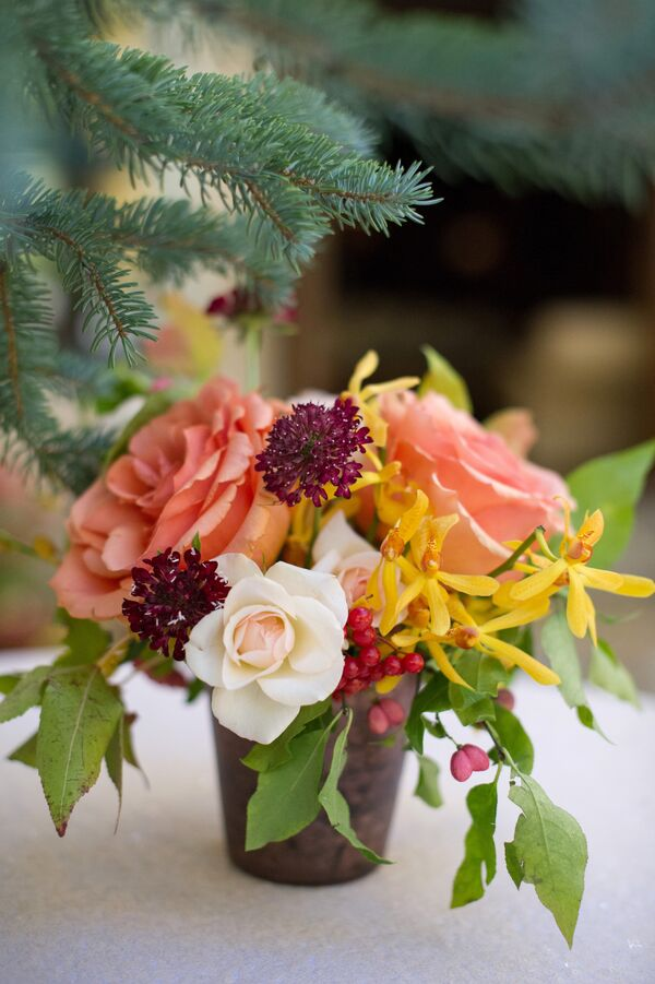 Coral Wedding Centerpieces