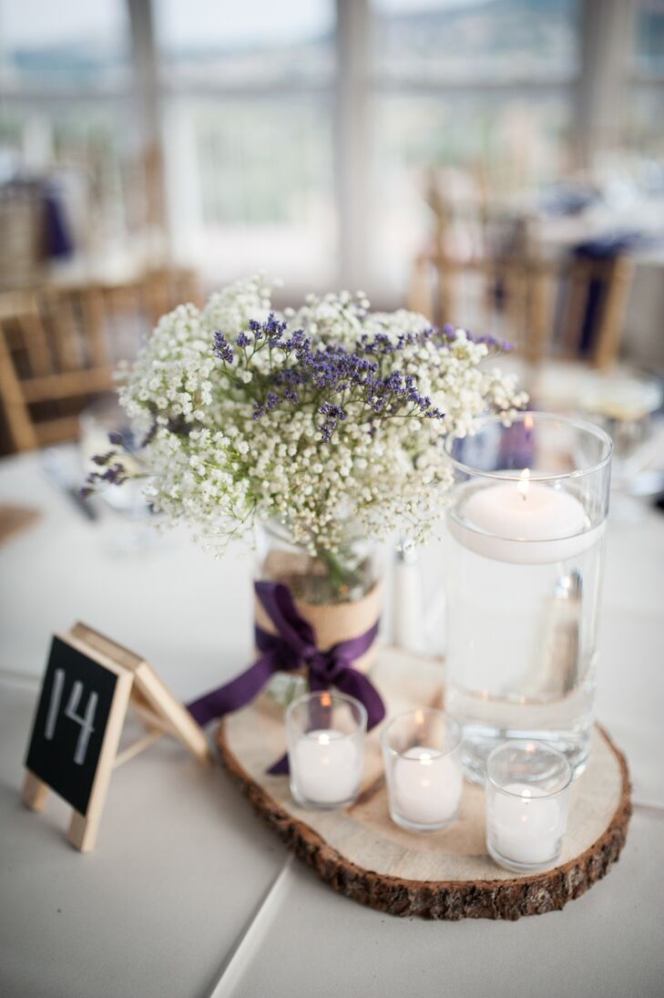 rustic baby u2019s breath and floating candle centerpieces