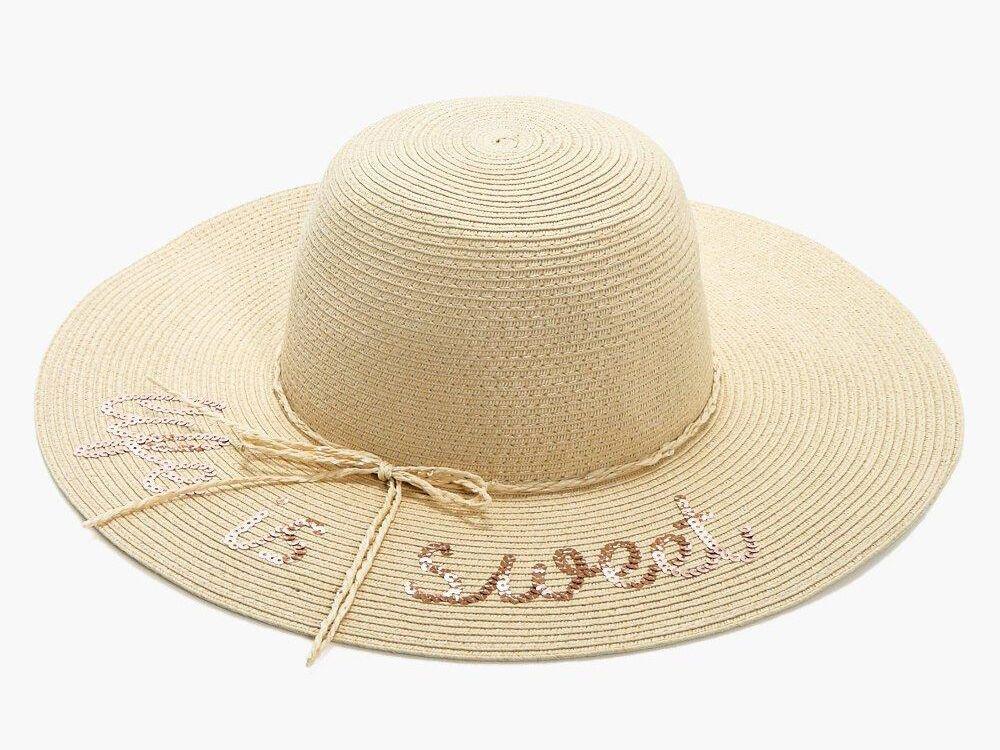 51abda6e2ebe5 Floppy Sun Hats With Writing for Honeymoon