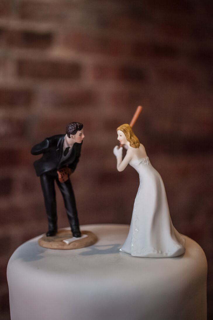wedding cake toppers baseball theme baseball themed cake topper 26390