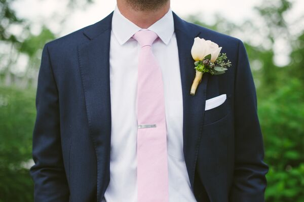 Ivory Rose and Eucalyptus Boutonniere