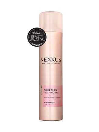 The Knot's pick for best volumizer is the Nexxus Comb Thru finishing mist