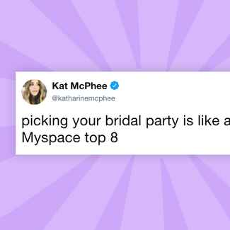Katharine McPhee bridal party tweet