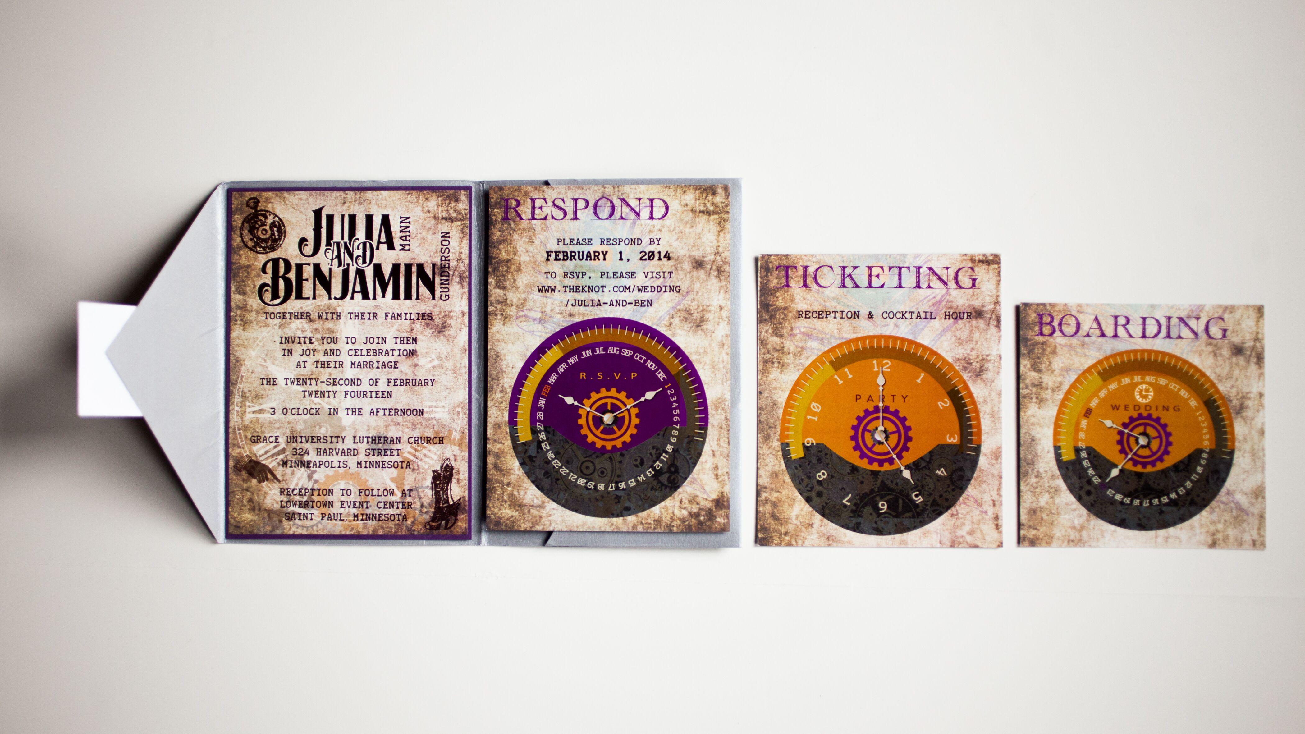Steampunk Wedding Invitiations