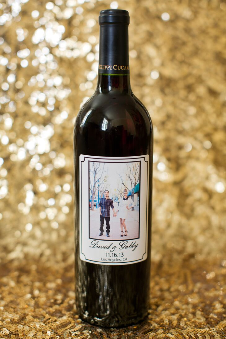 Custom Made Wine Labeled Wedding Favors