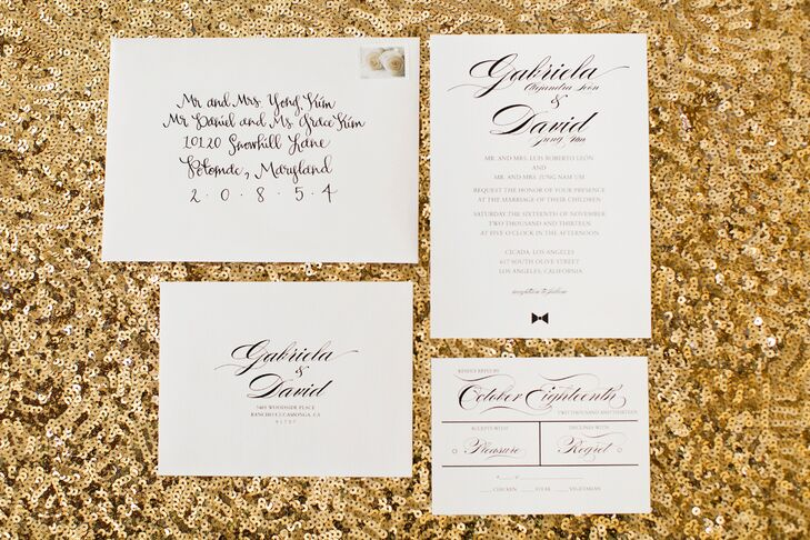 Los Angeles Wedding Invitations: An Art Deco Formal Wedding At Cicada Restaurant In Los