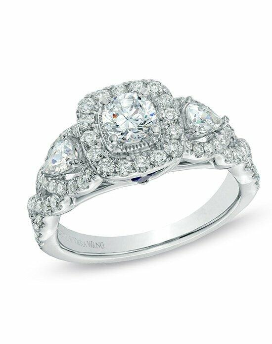 Vera Wang LOVE at Zales Vera Wang LOVE Collection 1-3/8 CT. T.W. Diamond Three Stone Engagement Ring in 14K White Gold  19962357 Engagement Ring photo