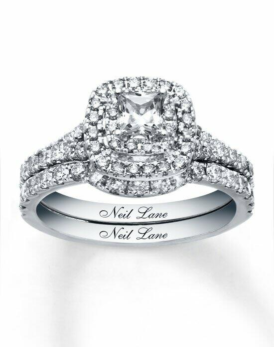Neil Lane 14kw 1-1/3cttw Princess Bridal Set-940241500 Engagement Ring photo
