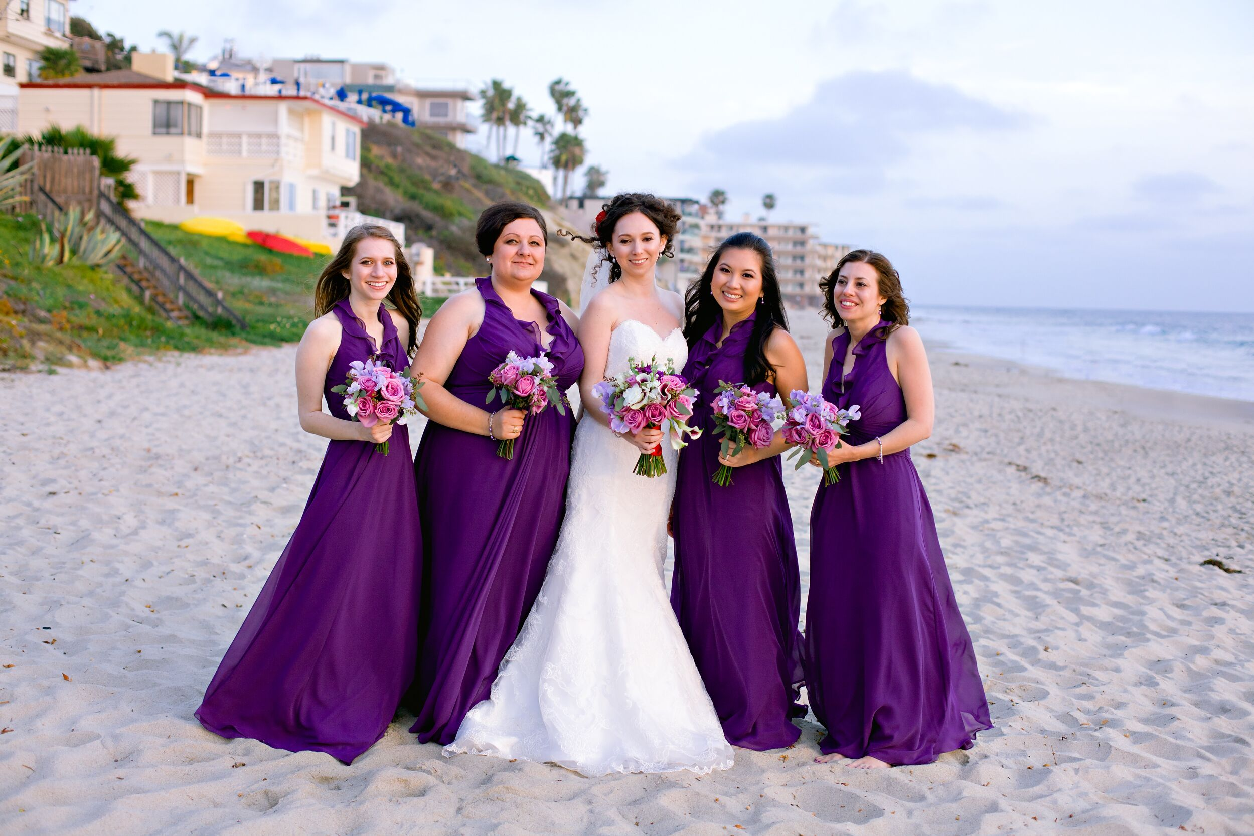 lilac bridesmaid and groom - HD2500×1667